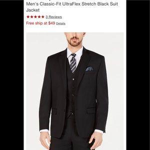 NWT RALPH LAUREN Classic Fit Suit Jacket Black 46R